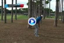 Este golpe de Wiesberger entre los árboles y por encima del agua fue simplemente fabuloso (VÍDEO)