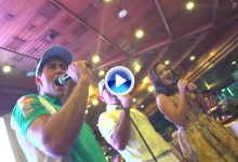 Carlos Pigem se viene arriba con el 'Bailamos' de Enrique Iglesias en la fiesta del Asian Tour (VÍDEO)