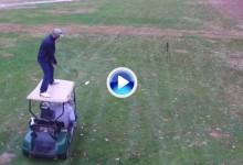 Joshua Kelley es capaz de surfear encima de un coche de golf para hacer un Trick Shot (VÍDEO)