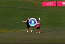 La gran Dama del Golf, Laura Davies, aligeró su bolsa. Lanzó su putt al agua tras un mal día (VÍDEO)