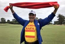 ¡Vamos, Rafa! El padre de Cabrera-Bello, orgulloso de su hijo y de los colores de la Armada