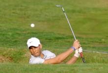 Rafa Nadal aventaja a Olazábal tras la primera jornada del torneo de golf solidario en Pula Golf