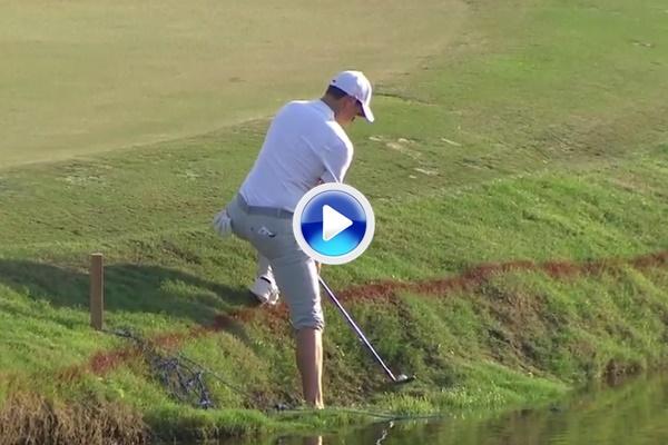 """""""Ay, si hubiera dropado"""". Rory escenifica en el hoyo 16 su terrible inicio en el DP World Tour (VÍDEO)"""