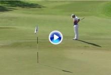 El Golf es duro: Sergio García podría ser más líder en Dubái de no ser por este 'salto de rana' (VÍDEO)