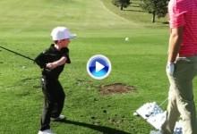 Los jugadores del PGA alucinaron en Las Vegas con Tommy, el chico con un solo brazo (VÍDEOS)