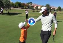 Tommy, el niño de 5 años y un solo brazo, gana a G-Mac, Hahn y Horschel con 2 birdies y par (VÍDEO)