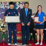 16 05 08 Jeunghun Wang y Nuria Iturrioz en el Trophée Hassan II