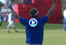 Los 10 golpes del año en el PGA: Nº8. Genial chip de Hurley desde 32m. para ganar el Quicken (VÍDEO)