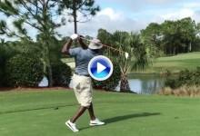 ¿Belleza en el swing? ¿Para qué? Jordan rompe moldes con su swing al estilo Barkley (VÍDEO)