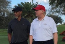 Donald Trump y Tiger Woods estrechan vínculos golfísticos en el Palm Beach de Florida