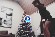 El árbol de Navidad reclama su sitio como lugar destacado de Trick Shots para estas fechas (VÍDEO)
