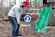 Existen otras formas de abrir y tirar una cerveza pero no son tan sencillas -Método Golf- (VÍDEO)