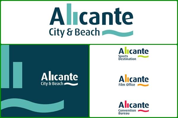 Alicante City and Beach Logos