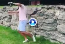 """No es fácil emular al """"Pisha"""", este intentó el golpe del muro y se llevó un bolazo en la cabeza (VÍDEO)"""