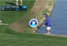 F.-Castaño se quedó en calzoncillos para intentar salvar el par desde dentro del agua (VÍDEO)