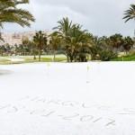 La primera vez en 103 años.... así estaba La Marquesa Golf esta mañana