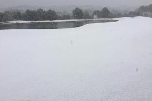 ¡Insólito! La nieve envolvió con un manto blanco los campos de Golf de la Costa Blanca (FOTOGALERÍA)