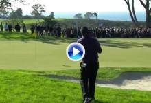 ¡Como en casa en ningún sitio! Mickelson se sacó de la chistera este Flop Shot para enmarcar (VÍDEO)