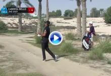 C.-Bello mantiene la tensión en Catar. Excelente golpe de Rafa desde un camino de tierra (VÍDEO)