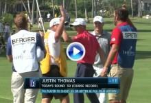 No se puede perder la 1ª e histórica jornada del Sony Open donde Thomas firmó 59 golpes (VÍDEO)