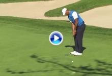 17 meses después Tiger volvió a embocar un birdie en un torneo oficial del PGA en EE.UU (VÍDEO)