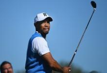 """Tiger confiesa que es """"muy pronto» para hablar de la vuelta, pero ya hace progresos con su juego"""