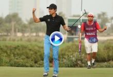 Este putt de Wang en el PlayOff vale ni más ni menos que casi 400.000 euros ¡¡casi nada!! (VÍDEO)