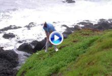 El Golf es duro: Los acantilados de Pebble Beach protagonizan este golpe de Andrew Loupe (VÍDEO)
