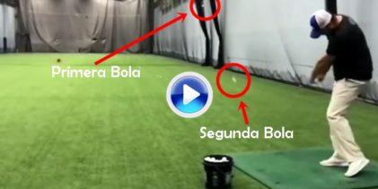 ¿Trick Shot imposible? Coach Rusty lanza una bola y la golpea con otra mientras está en el aire (VÍDEO)