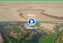 Vean cómo se hace un campo de golf en mitad del desierto. Así se construyó el Emirates GC (VÍDEO)