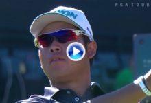 Matsuyama, muy cerca del Hoyo en 1 en el Coliseo de Phoenix. Fue el golpe del día en el PGA (VÍDEO)