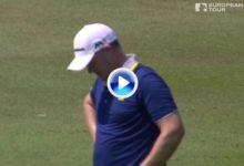 El Golf es duro: del eagle al bogey. Fraser casi se va al agua con uno de sus mejores golpes (VÍDEO)