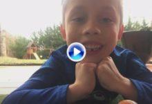 Maxton, el niño que encontró en el Golf la forma más fácil de sacarse los dientes de leche (VÍDEO)