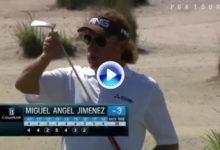 Miguel Ángel Jiménez lidera en Florida y celebra los birdies a lo Miguel Ángel Jiménez (VÍDEO)