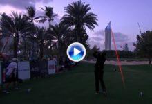 ¡¡Increible!! El cántabro Nacho Elvira hizo el eagle casi a ciegas tras caer la noche en Dubai (VÍDEO)