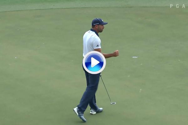 Sergio cierra con un magnífico eagle una gran tercera vuelta y saca el puño en el National (VÍDEO)
