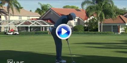 Gran birdie de Sergio García con un gran approach desde el rough y una ¡casi! corbata de 360º (VÍDEO)