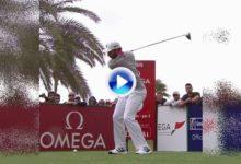 Vea el potente swing de Sergio a cámara lenta. El de Castellón lidera en Dubai con 3 de ventaja (VÍDEO)
