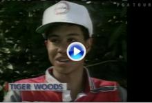 Tiger regresa al lugar que le vio nacer. Así fue el debut de Woods hace 26 años en Riviera CC (VÍDEO)
