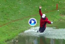 Estos son los 10 mejores golpes desde el agua en el PGA Tour. Sergio, uno de los protagonistas (VÍDEO)