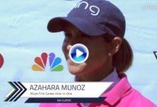 Azahara Muñoz cuenta cómo fue el primer Hoyo en Uno de su carrera: 120 metros, hierro 8 (VÍDEO)