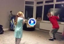 No se pierdan este Flop Shot a cargo de este chaval de 7 años sobre su hermana y en casa (VÍDEO)