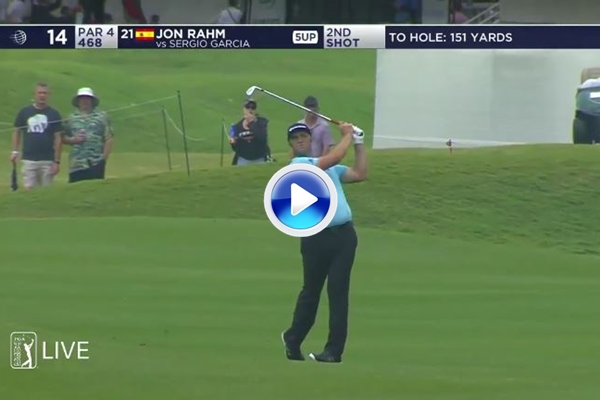 Con este tirazo, que rozó el eagle, Jon Rahm dejaba K.O. a Sergio García en el Dell Match Play (VÍDEO)