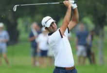 Campillo celebra con un T2 en las primeras horas del BMW su clasificación para el Open y el US PGA