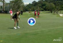 Grip nuevo, resultados nuevos. La pinza de Michelle Wie marcha viento en popa y a toda vela (VÍDEO)