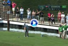 ¡¡Booommm!! Zach Johnson voló 270 mts. de agua. Estuvo a punto del Hoyo en Uno en un par 4 (VÍDEO)