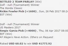 Un fan logra más de 39mil$ al acertar que Fowler y García ganarían el Honda y el Masters