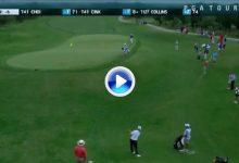 Increíble Flop Shot de  Charley Hoffman en el Valero Texas Open. Dejó la bola pegadita al hoyo (VÍDEO)