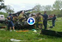 Un helicóptero del ejército estadounidense se estrella en un campo de golf de Maryland (VÍDEO)