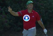 Rahm da una clase magistral con el chip en el 13 de Augusta. ¡Eagle y enorme celebración! (VÍDEO)